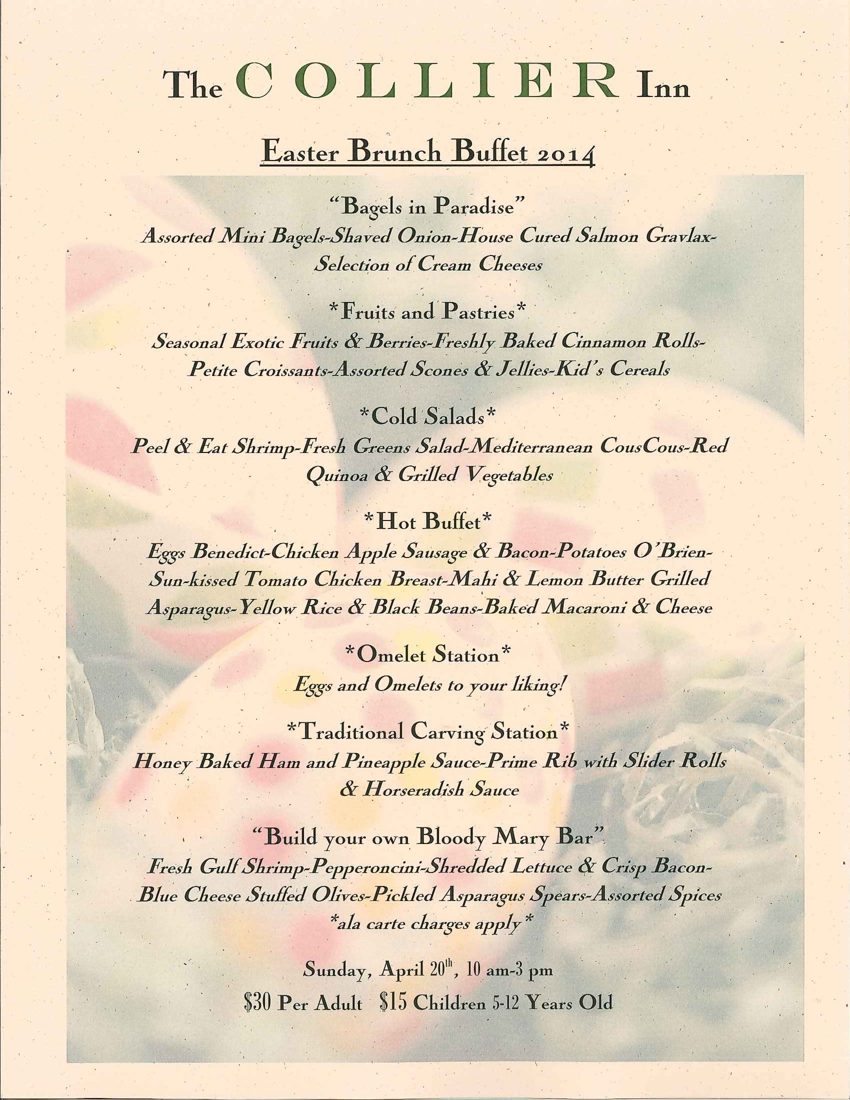 Club members exclusive private island club off florida for Best brunch menu